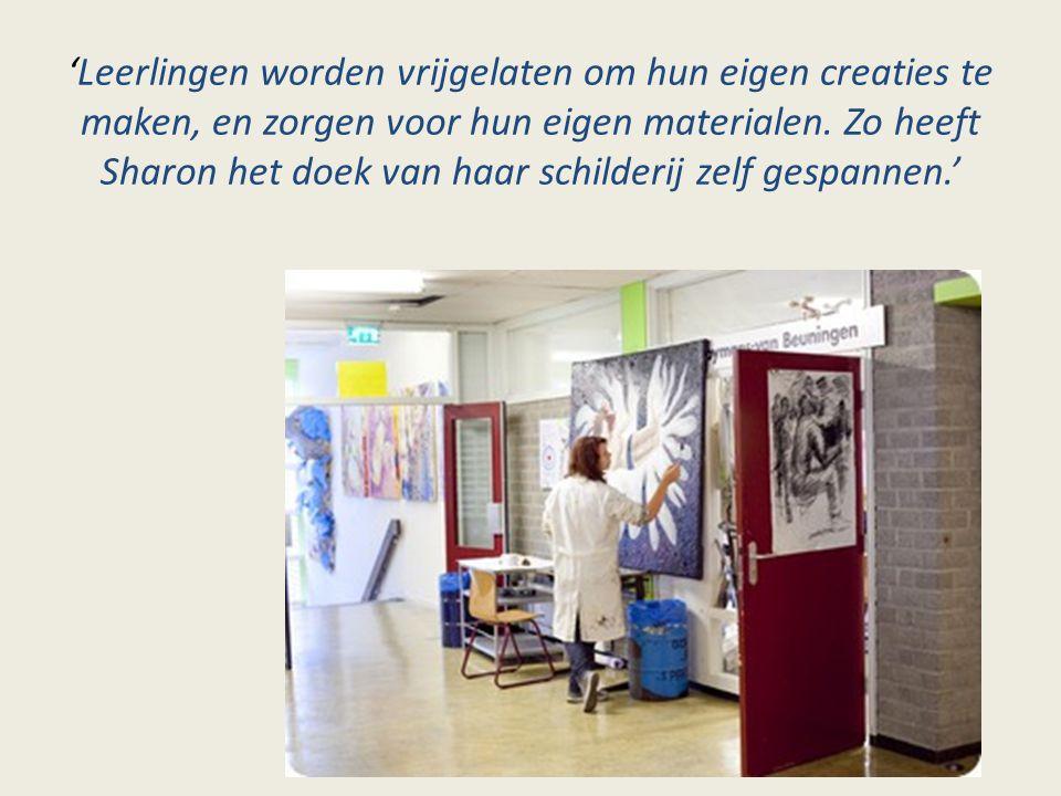 'Leerlingen worden vrijgelaten om hun eigen creaties te maken, en zorgen voor hun eigen materialen.