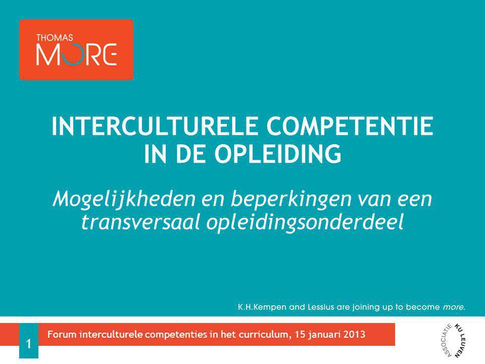 Interculturele competentie in de opleiding