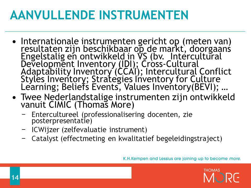 Aanvullende instrumenten