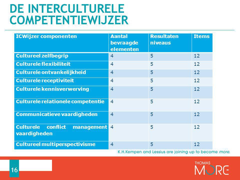 DE Interculturele competentiewijzer