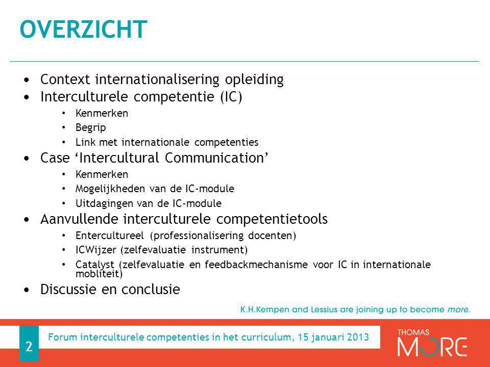overzicht Context internationalisering opleiding