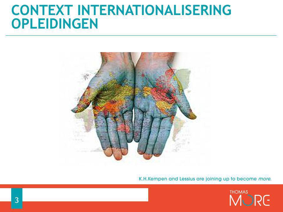 Context internationalisering opleidingen