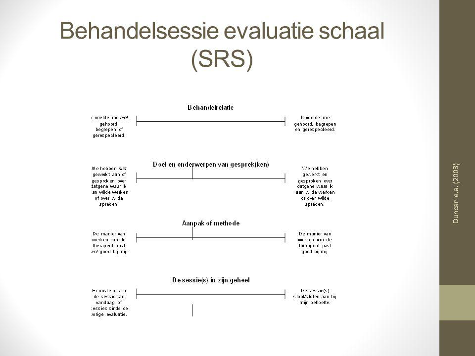 Behandelsessie evaluatie schaal (SRS)