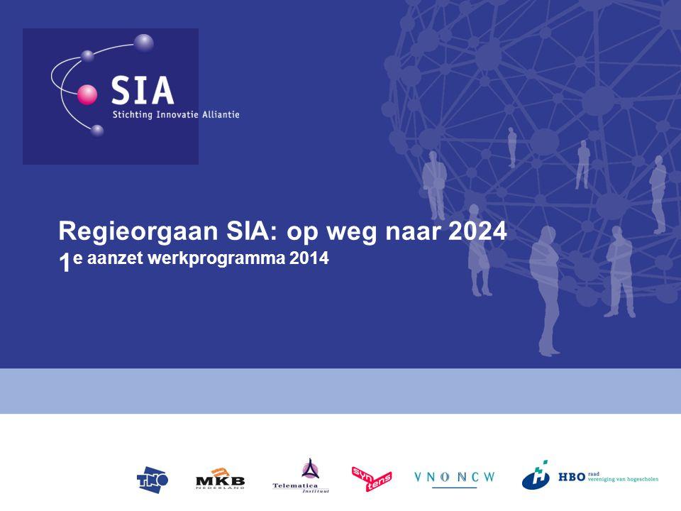 Regieorgaan SIA: op weg naar 2024 1e aanzet werkprogramma 2014