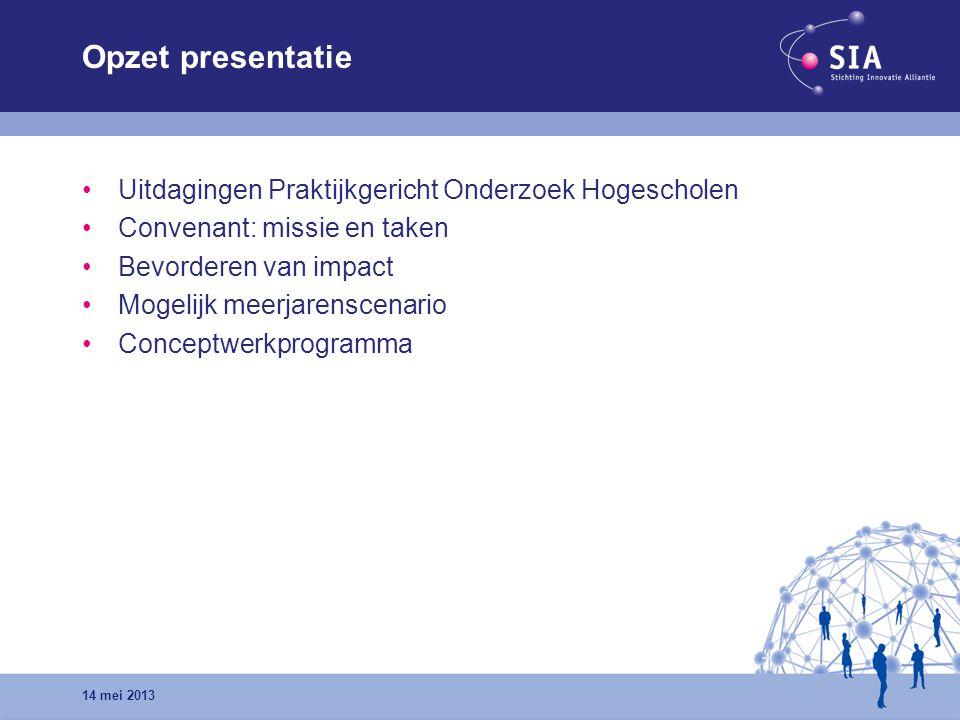 Opzet presentatie Uitdagingen Praktijkgericht Onderzoek Hogescholen