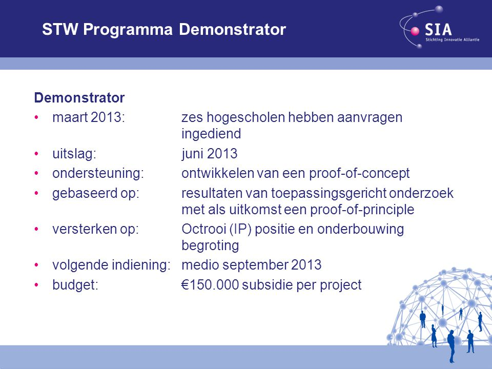 STW Programma Demonstrator
