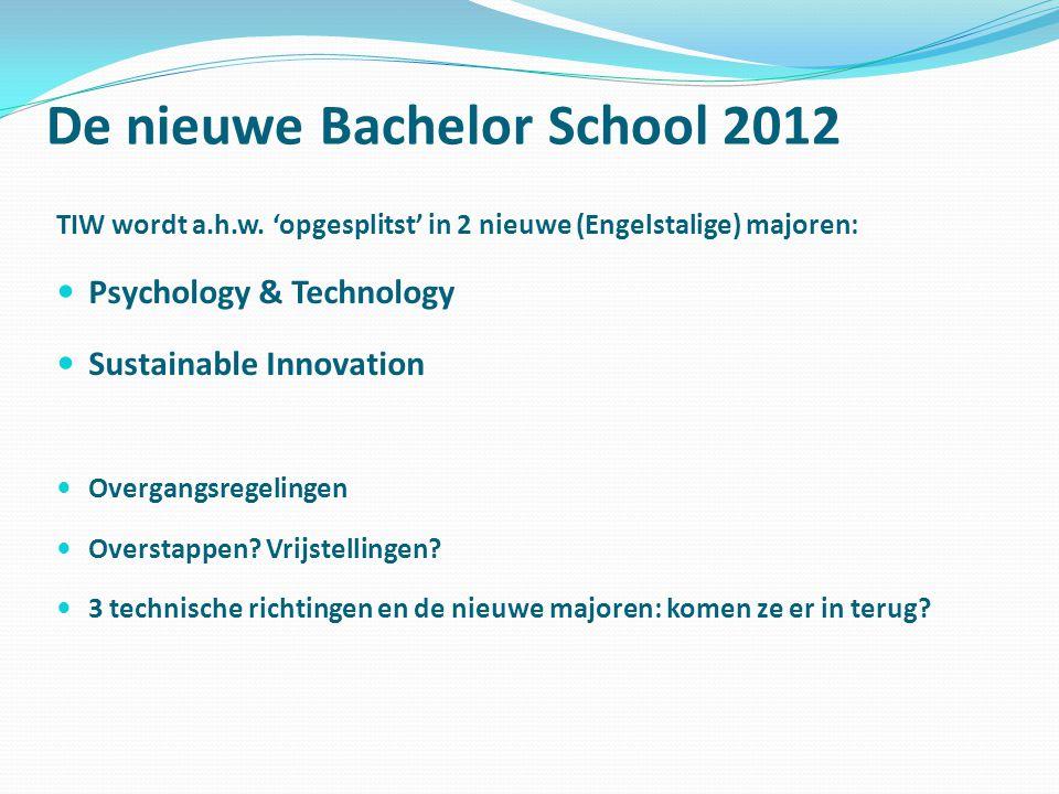 De nieuwe Bachelor School 2012