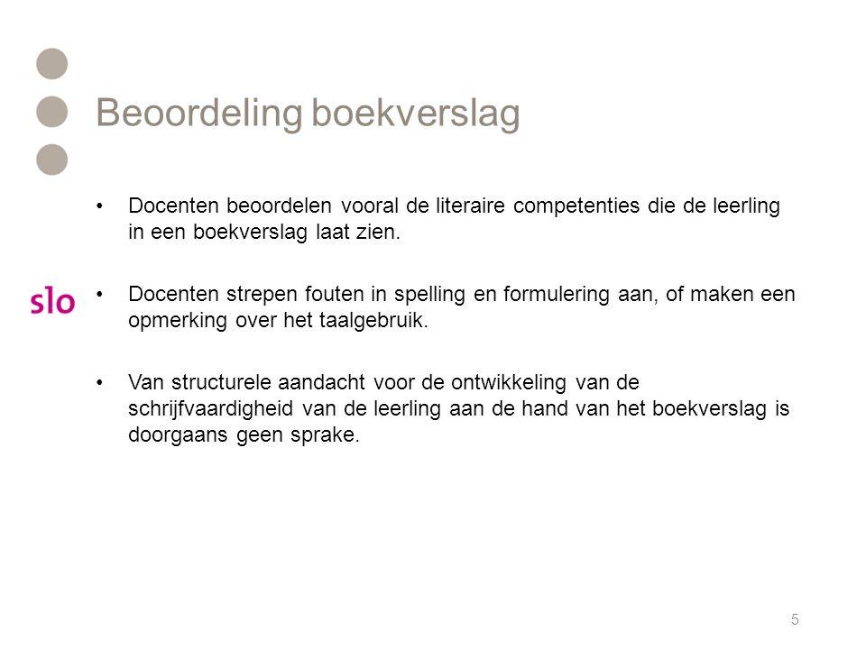 Beoordeling boekverslag