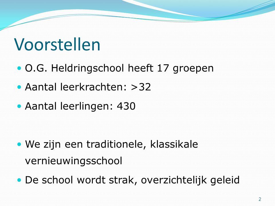 Voorstellen O.G. Heldringschool heeft 17 groepen