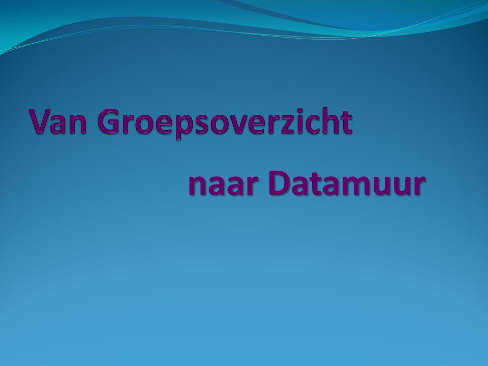 Van Groepsoverzicht naar Datamuur