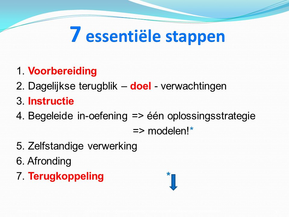 7 essentiële stappen