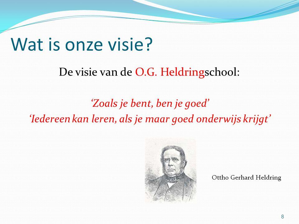 Wat is onze visie De visie van de O.G. Heldringschool: