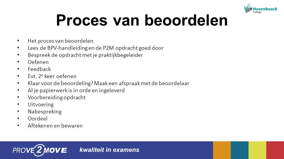 Proces van beoordelen Het proces van beoordelen