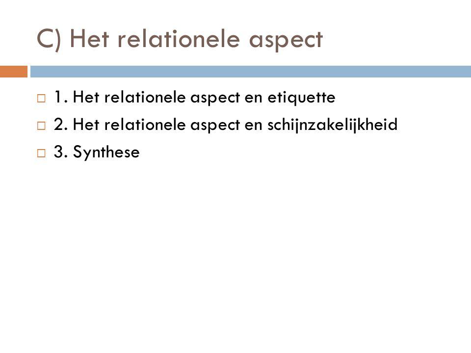 C) Het relationele aspect