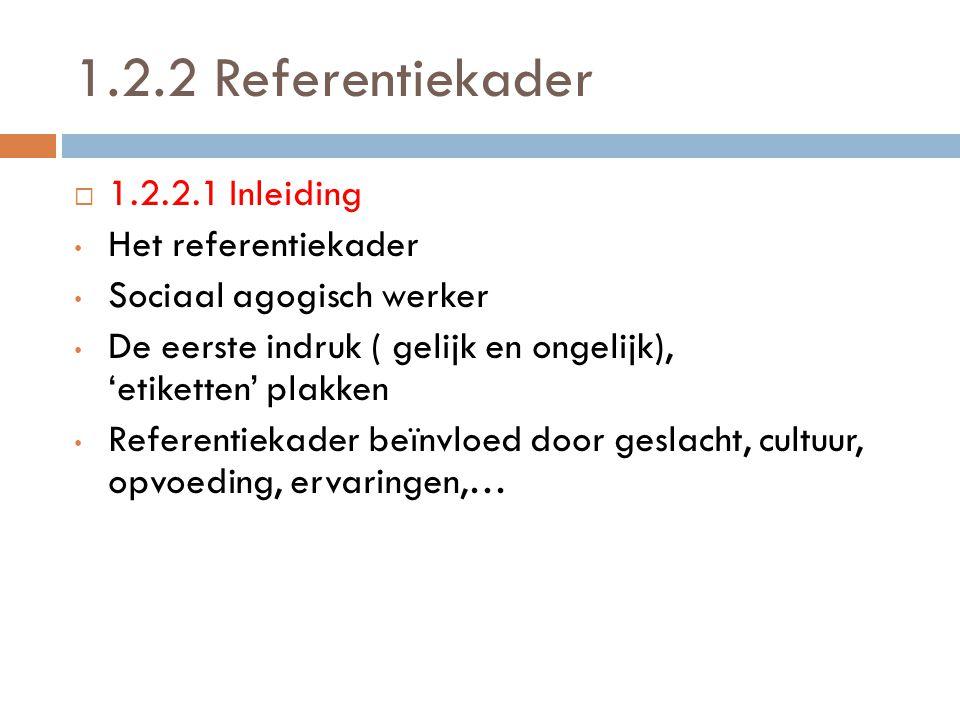 1.2.2 Referentiekader 1.2.2.1 Inleiding Het referentiekader