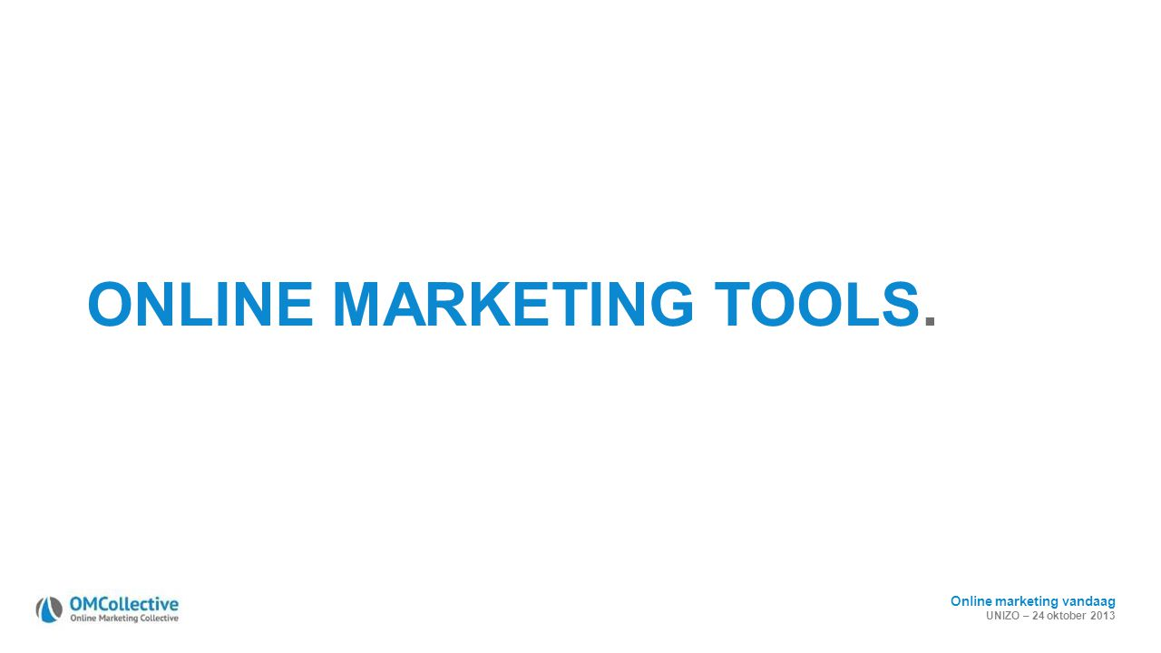 ONLINE MARKETING TOOLS.