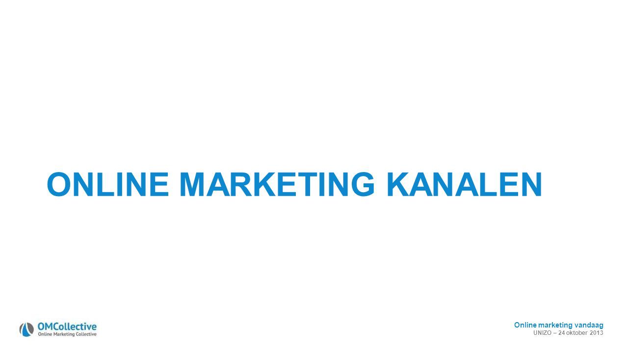 ONLINE MARKETING KANALEN