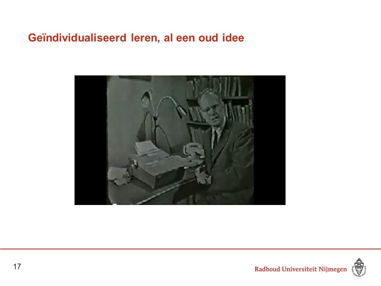 Geïndividualiseerd leren, al een oud idee