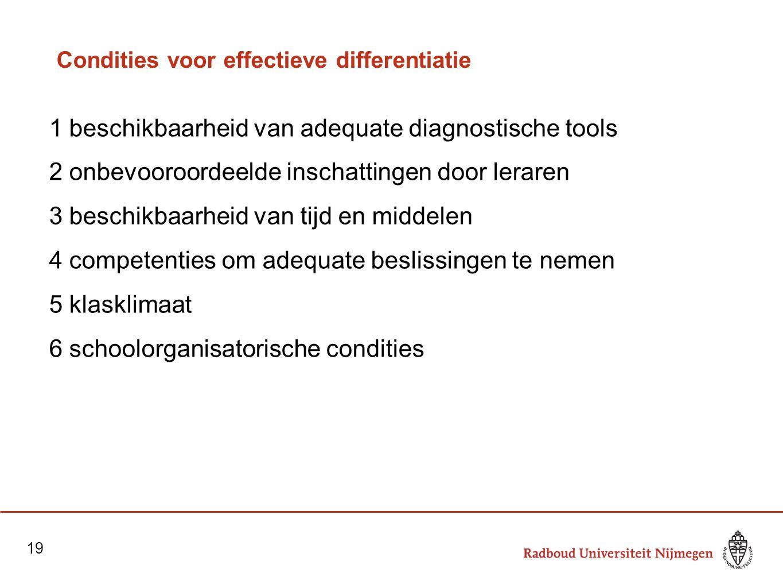 Condities voor effectieve differentiatie