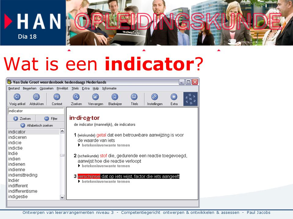 Wat is een indicator.