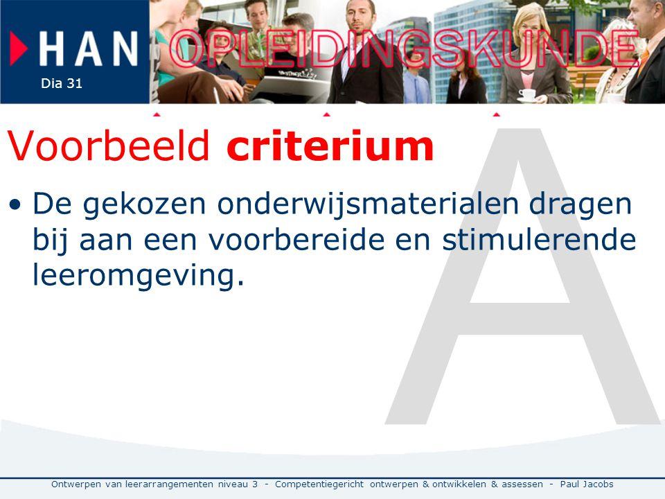 A Voorbeeld criterium. De gekozen onderwijsmaterialen dragen bij aan een voorbereide en stimulerende leeromgeving.