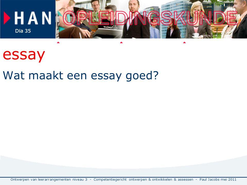 essay Wat maakt een essay goed