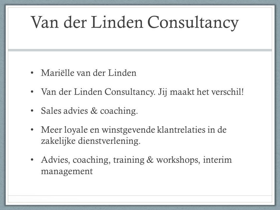 Van der Linden Consultancy