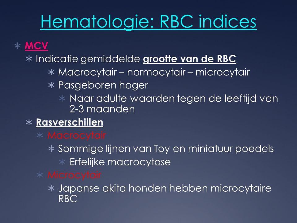 Hematologie: RBC indices