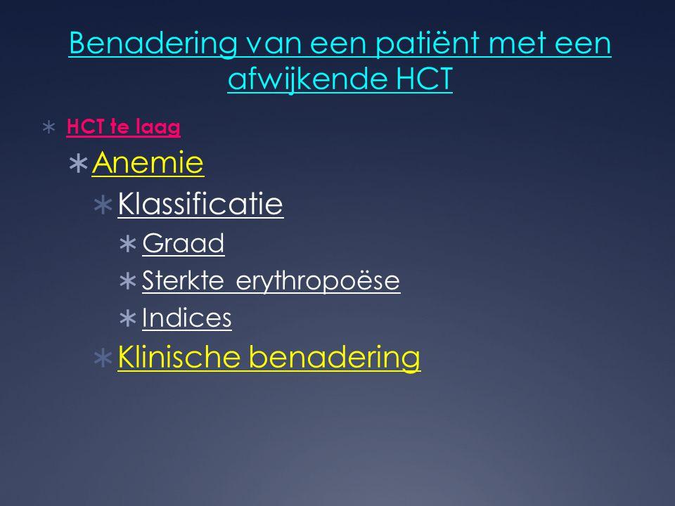 Benadering van een patiënt met een afwijkende HCT