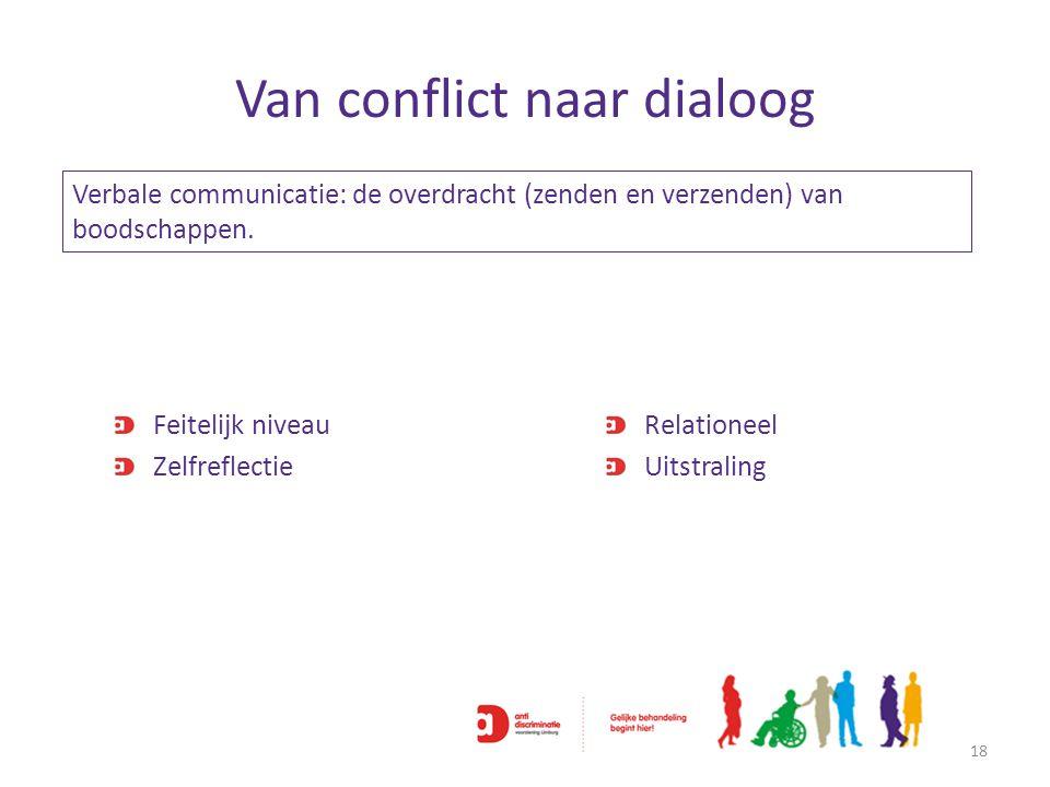 Van conflict naar dialoog