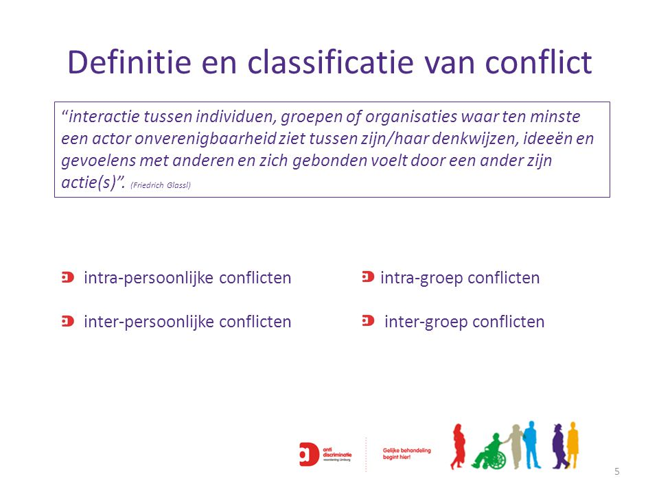 Definitie en classificatie van conflict