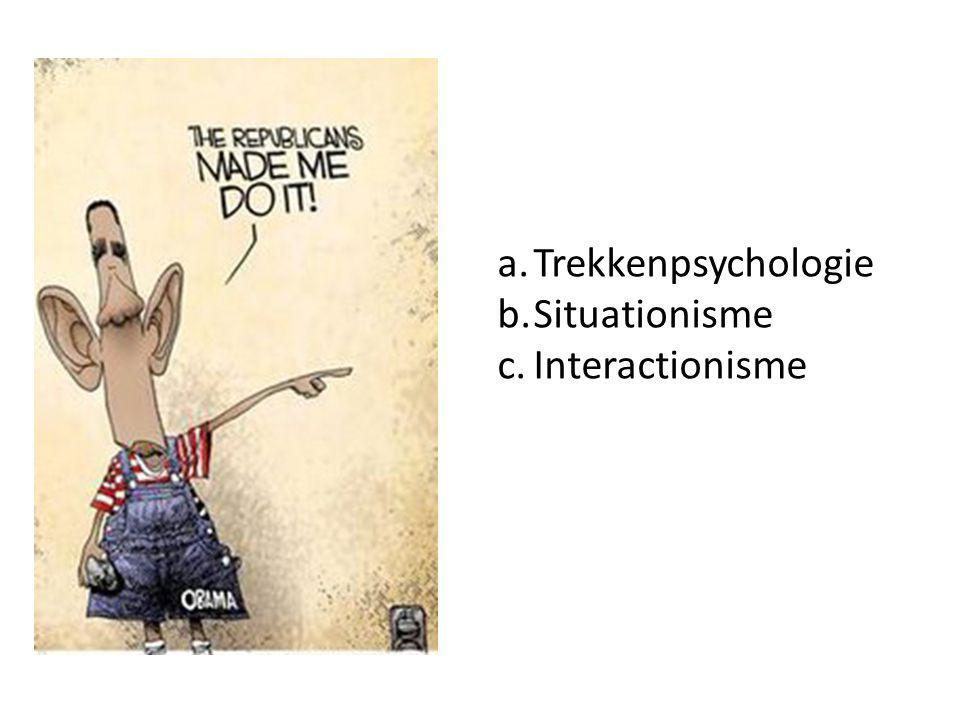Trekkenpsychologie Situationisme Interactionisme