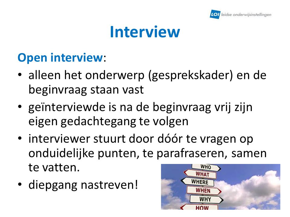 Interview Open interview: