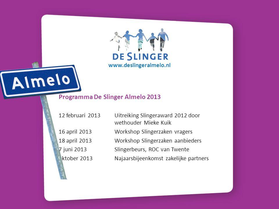 Programma De Slinger Almelo 2013