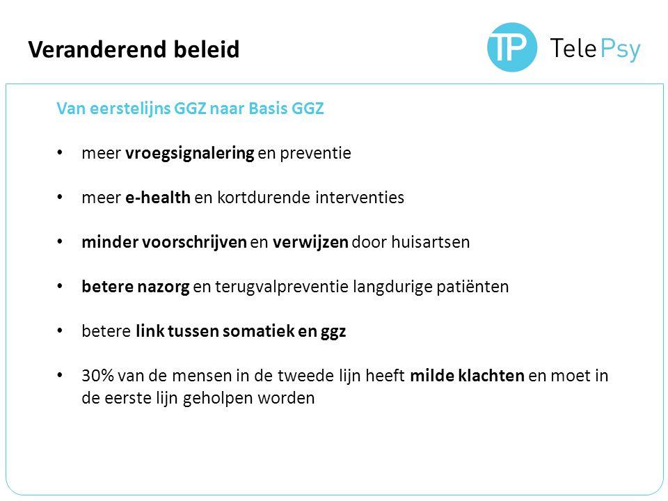 Veranderend beleid Van eerstelijns GGZ naar Basis GGZ