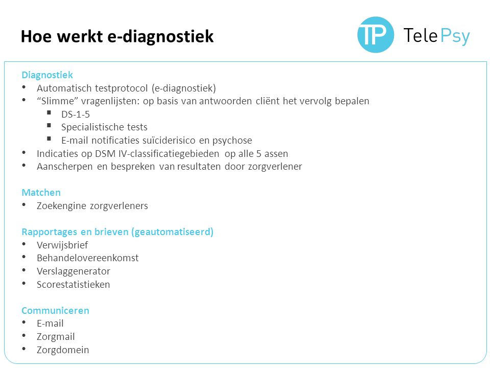 Hoe werkt e-diagnostiek