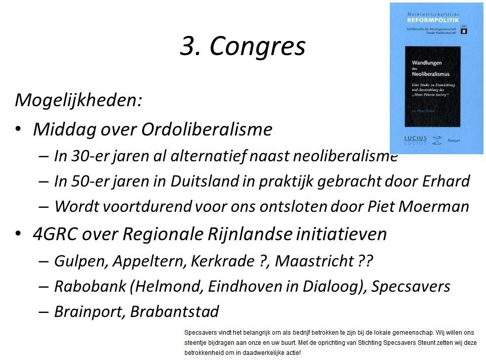 3. Congres Mogelijkheden: Middag over Ordoliberalisme