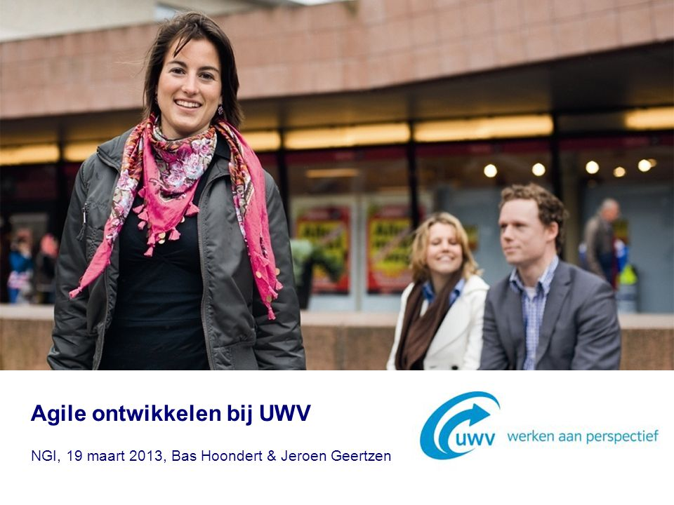 Agile ontwikkelen bij UWV