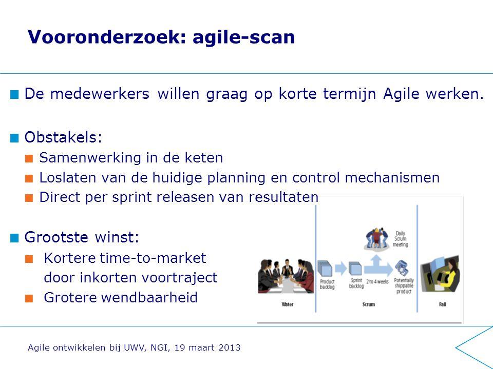 Vooronderzoek: agile-scan