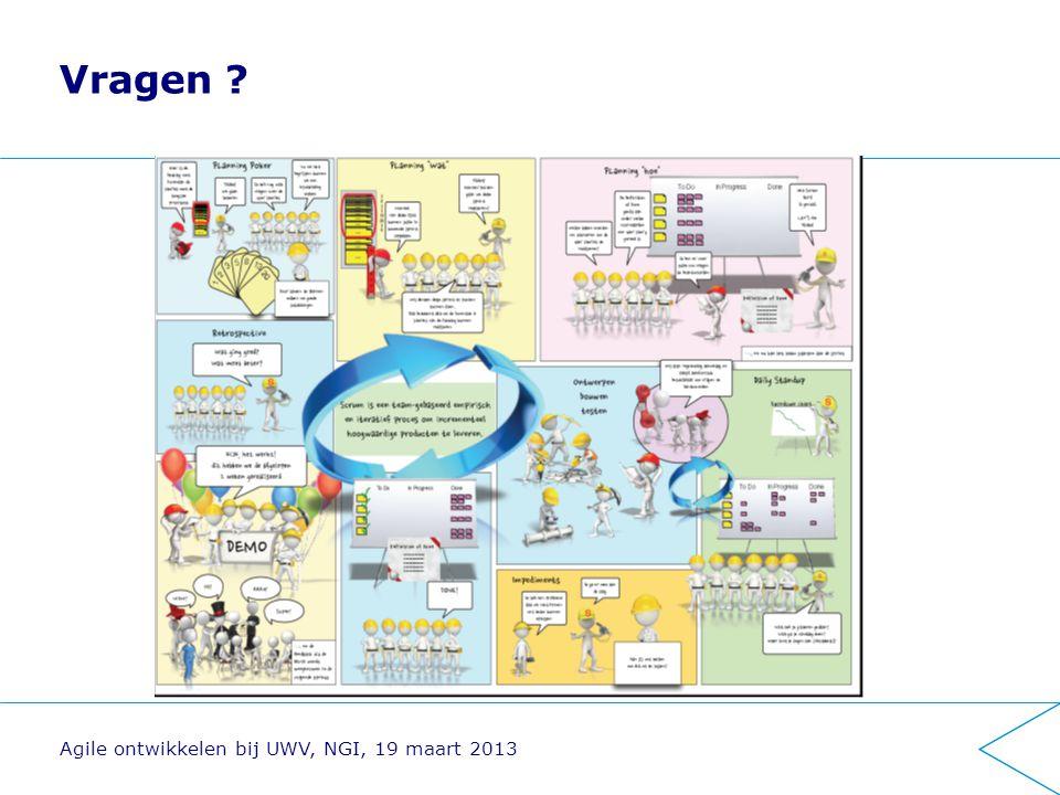 Vragen Agile ontwikkelen bij UWV, NGI, 19 maart 2013