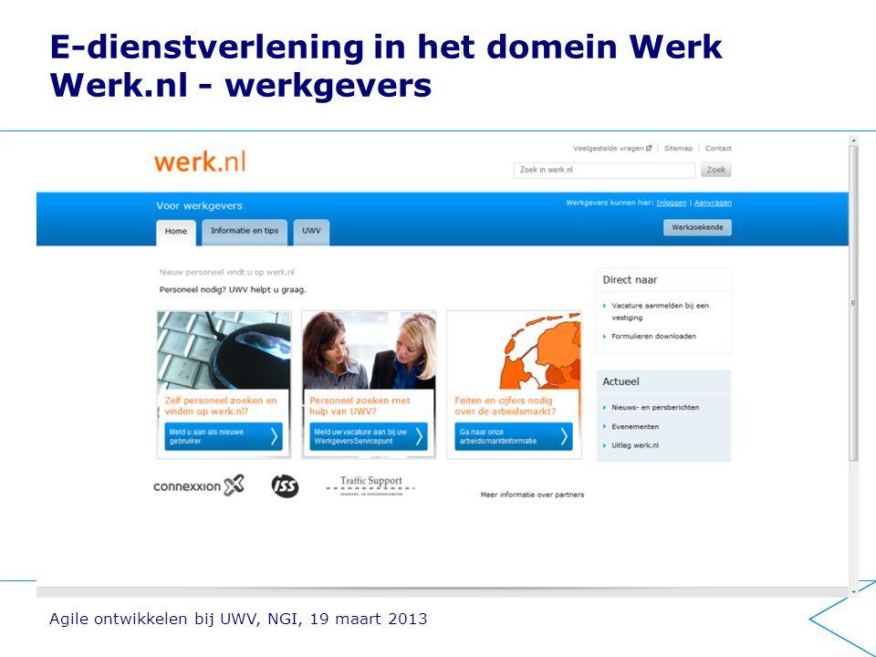 E-dienstverlening in het domein Werk Werk.nl - werkgevers