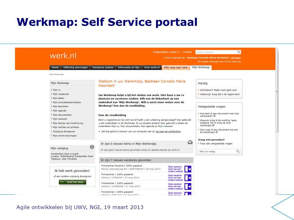 Werkmap: Self Service portaal
