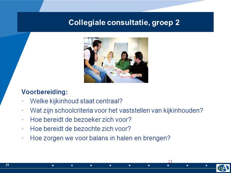 Collegiale consultatie, groep 2