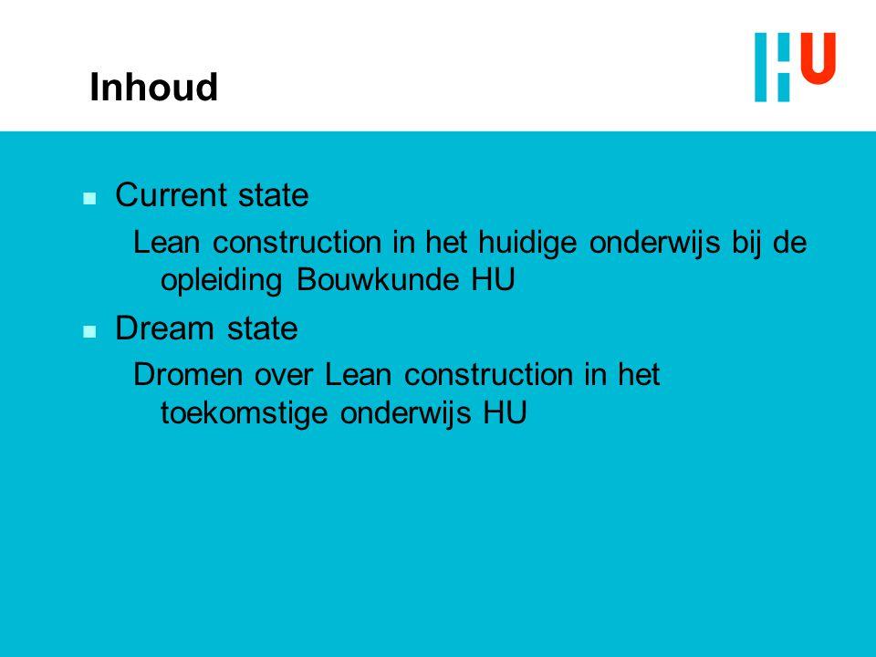 Inhoud Current state Dream state