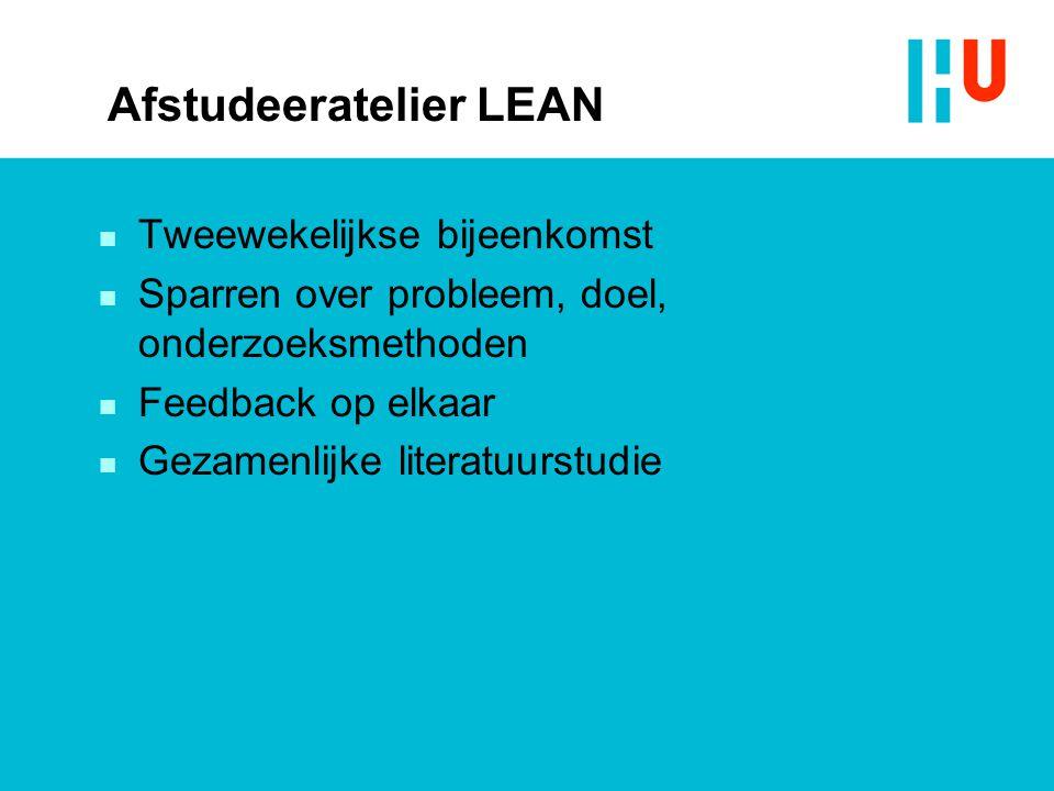 Afstudeeratelier LEAN
