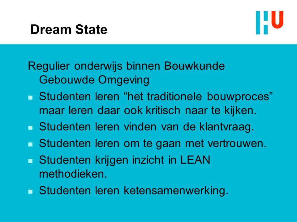 Dream State Regulier onderwijs binnen Bouwkunde Gebouwde Omgeving
