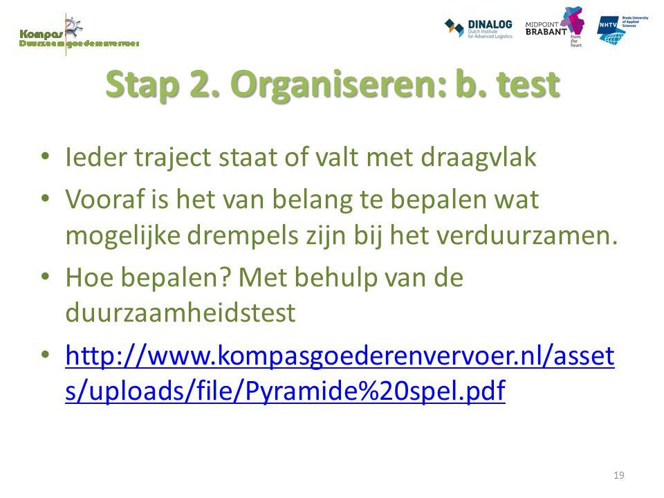 Stap 2. Organiseren: b. test