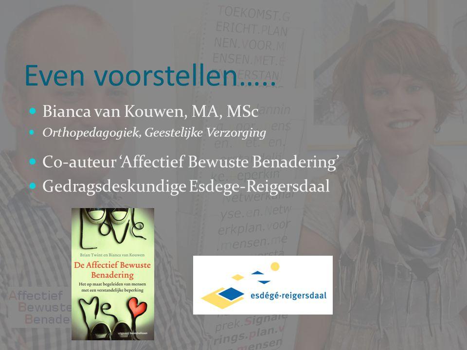 Even voorstellen….. Bianca van Kouwen, MA, MSc