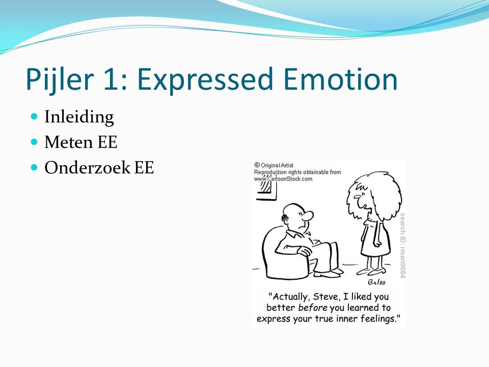 Pijler 1: Expressed Emotion