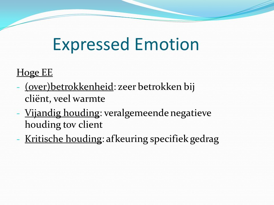 Expressed Emotion Hoge EE